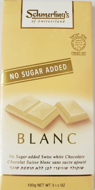 Swiss Milk White Chocolate No Added Sugar
